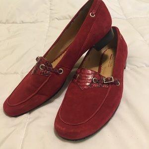 Red suede loafers DONALD J PLINER